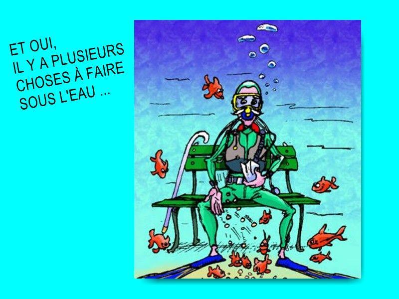 Montage humour page 7 - Dessin plongeur ...